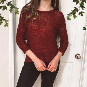 H&M Maroon Burgundy 3/4 Sleeve sweater, Size S